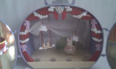 Adorable Rare Big Angelina Ballerina Light up Dancing Theatre + Figure